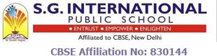 SG International Public School – CBSE School in Bangalore
